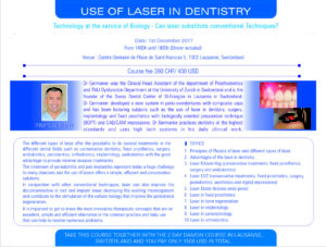 Laser course in Switzerland, Europe